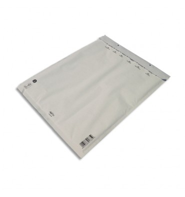 AIRPRO Paquet de 5 pochettes à bulles d'air en Kraft Blanc, fermeture auto-adhésive, Format 30 x 44,5 cm
