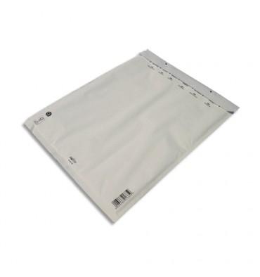 AIRPRO Paquet de 5 pochettes à bulles d'air en Kraft blanc, fermeture auto-adhésive, Format 35 x 47 cm