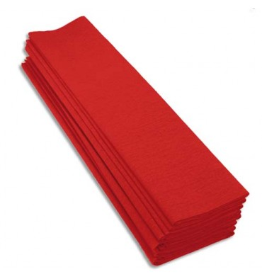Rouleaux paquet de 10 feuilles crépon M40 2 x 0,5 m rouge