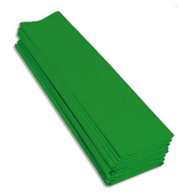 Rouleaux paquet 10 feuilles crépon M40 2 x 0,5 m vert pré