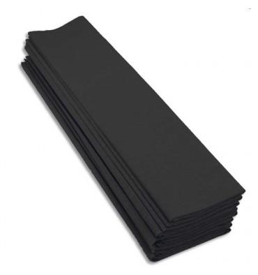 CLAIREFONTAINE Rouleaux paquet de 10 feuilles crépon M40 2 x 0,5 m noir