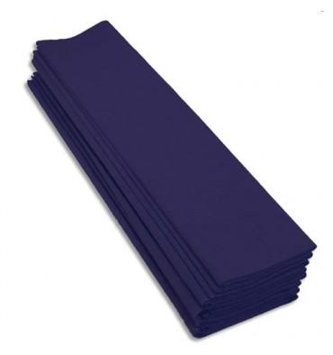 CLAIREFONTAINE Rouleaux paquet 10 feuilles crépon M40 2 x 0,5 m bleu marine