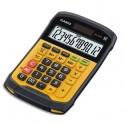 CASIO Calculatrice de bureau à 12 chiffres, étanche à l'eau et à la poussière WM-320MT, coloris noir et jaune