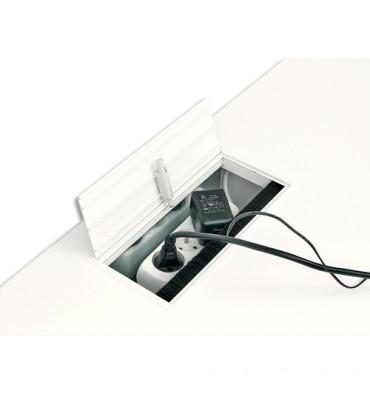 GAUTIER Top access YES Blanc, plateau de maintien, amortisseur L27 x H9 x P13 cm pour table haute