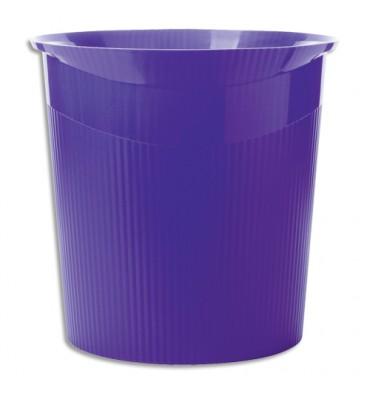 HAN Corbeille à papier Loop 13 litres - 29 x 28,7 x 22,6 cm coloris violet