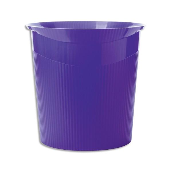 HAN Corbeille à papier Loop 13 litres - 29 x 28,7 x 22,6 cm coloris violet (photo)
