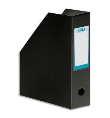 ELBA Porte-revues en PVC soudé, dos de 10 cm 32x24cm, livré à plat. Coloris noir