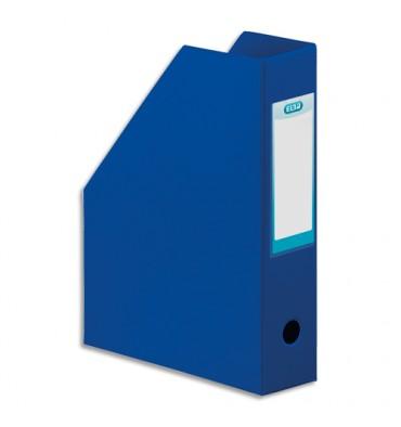 ELBA Porte-revues en PVC soudé, dos de 7 cm 24 x 32 cm, livré à plat. Coloris bleu foncé