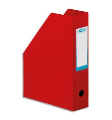 ELBA Porte-revues en PVC soudé, dos de 7 cm 32x24cm, livré à plat. Coloris rouge