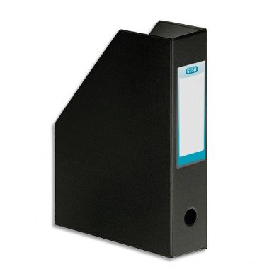 ELBA Porte-revues en PVC soudé, dos de 7 cm 24 x 32 cm, livré à plat. Coloris noir