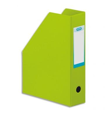 ELBA Porte-revues en PVC soudé, dos de 7 cm 32 x 24 cm, livré à plat. Coloris vert anis