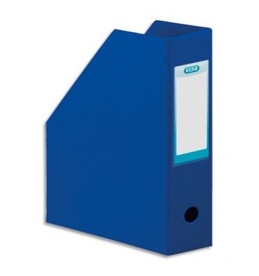 ELBA Porte-revues en PVC soudé, dos de 10 cm 32 x 24 cm, livré à plat. Coloris bleu foncé