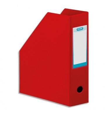 ELBA Porte-revues en PVC soudé, dos de 10 cm 32 x 24 cm, livré à plat. Coloris rouge
