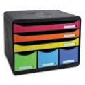 EXACOMPTA Module Store-Box Noir Arlequin 6 tiroirs en polystyrène - 35,5 x 27,1 x 27 cm