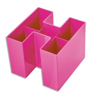 HAN Pot à crayons Bravo Rose en Polystyrène - Dimensions: L10,9 x H9 x P10,9 cm