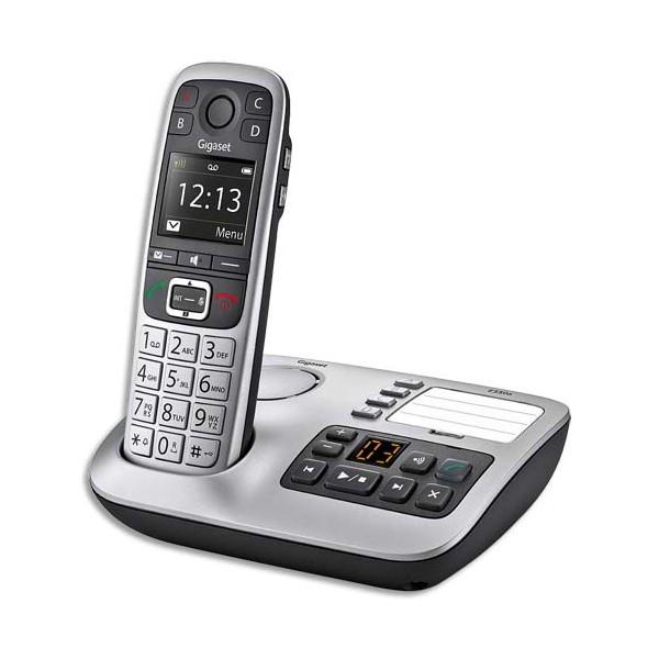 GIGASET Téléphone sans fil silver solo E560A avec répondeur
