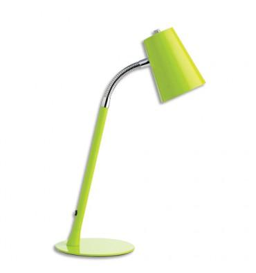 UNILUX Lampe Led Flexio Anis, abat-jour orientable, interrupteur sur cordon H43,5 cm et Socle D15 cm