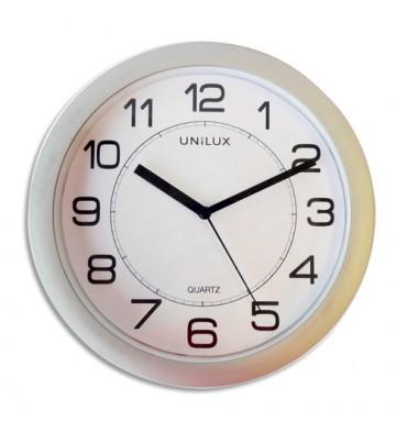 UNILUX Horloge Attraction Gris métal, en plastique, magnétique, mécanisme à quartz - Diamètre 22 cm