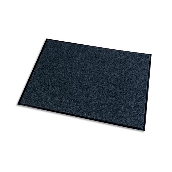 PAPERFLOW Tapis d'accueil Grattant recyclé Green & Clean Gris, aspect velours, en polyamide L150 x H90 cm (photo)