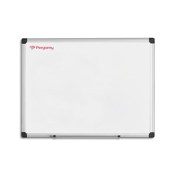 pergamy tableau blanc maill magn tique cadre aluminium format 60 x 45 cm. Black Bedroom Furniture Sets. Home Design Ideas