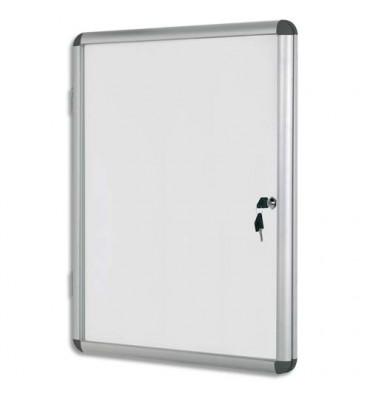 BI-OFFICE Vitrine d'intérieur en aluminium, surface magnétique - 6 feuilles, 67,4 x 72 cm