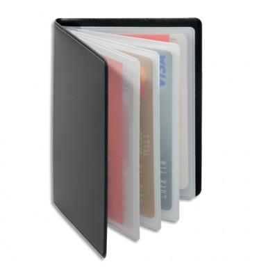 DURABLE Porte-cartes Anti RFIB Gris anthracite, plastique souple, 4 pochettes 8 cartes L7,5 x H10,2 cm