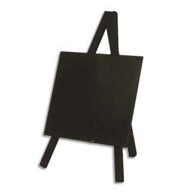 SECURIT Securit Mini Tripod ardoise de table - Dim : L24 x H15 cm coloris bois finition noir laqué