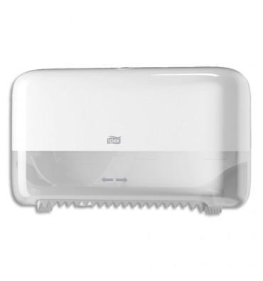 TORK Distributeur double Mid Size de papier toilette en rouleau sans mandrin L36 x H20,7 x P13 cm blanc