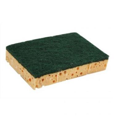 NICOLS Lot de 10 éponges classiques une face abrasive et une absorbante, format 13 x 2,6 x 9 cm