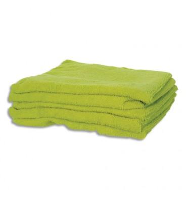 HYGIENE Lot de 5 Lavettes en microfibres tissées standards - 40 x 40 cm vert