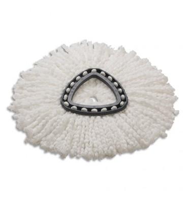 VILEDA Recharge Frange en microfibre blanche pour starterkit UltraSpin Mini - Dim. : L3 x H0,5 x P3 cm