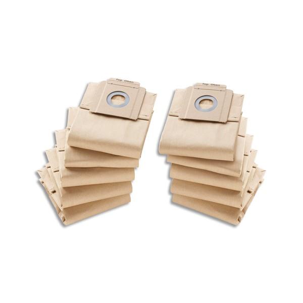 KARCHER Lot de 10 Sacs en papier, 2 couches, pour aspirateur 10/1 (photo)