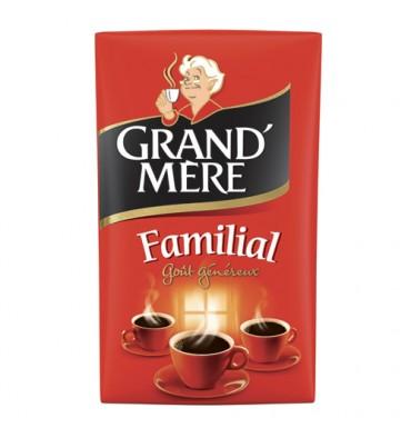 GRAND MERE Paquet de 250g de Café moulu Familial, Robusta