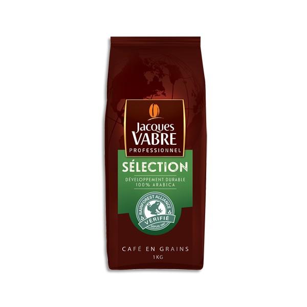JACQUES VABRE Paquet d'1Kg de café en grains Sélection, Arabica, Rainforest alliance (photo)