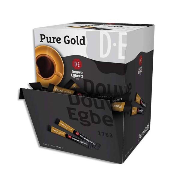 DOUWE EGBERTS Boîte de 200 sticks de café Pure Gold lyophilisé 1,5 g (photo)