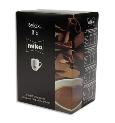 MIKO Boîte de 20 sachets individuels de chocolat de 30g, contient du lait en poudre