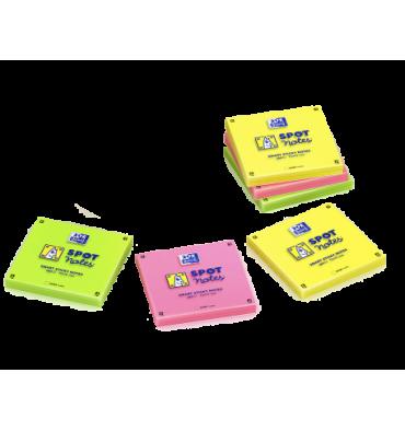 OXFORD Lot 6 blocs notes repositionnables 7,5 x 7,5 cm SCRIBZEE. Coloris assortis jaune, vert, rose