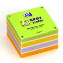 OXFORD Bloc cube 450 feuilles repositionnables 7,5 x 7,5 cm SCRIBZEE. Assortis