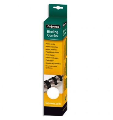FELLOWES Boîte de 100 peignes anneaux plastique 8 mm blanc