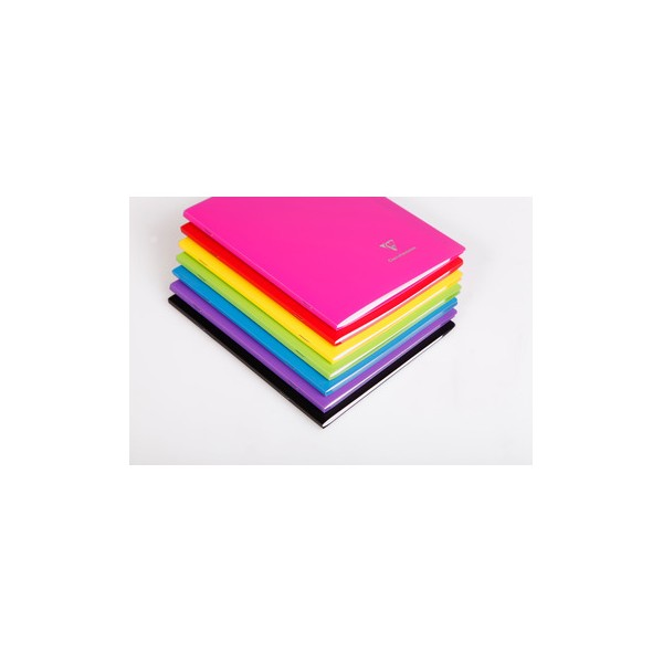 CLAIREFONTAINE Cahier KOVERBOOK piqûre 48 pages Seyès 17 x 22 cm. Couverture polypropylène opaque assortis