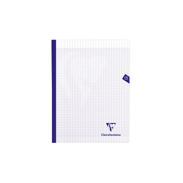 CLAIREFONTAINE Cahier MIMESYS brochure cousue 192 pages Seyès 24 x 32 cm. Couverture polypropylène incolore