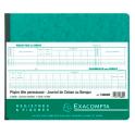 EXACOMPTA Piqûre Journal de caisse ou banque 27 x 32 cm tête paresseuse 6 crédit 13 débit 31 lignes 80 pages