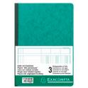 EXACOMPTA Piqûre 29,7 x 21 cm à tête paresseuse 3 colonnes sur 1 page 34 lignes 80 pages