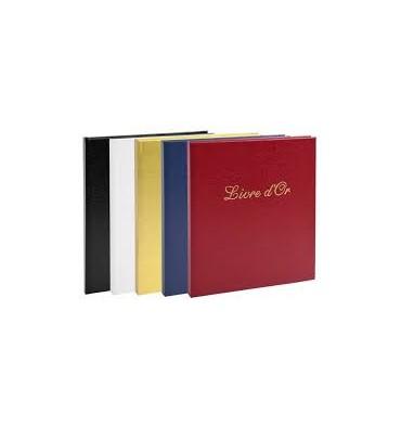 EXACOMPTA Livre d'or simili-cuir, tranche or, titre frappé 140 pages, papier 110 g. 21 x 19 cm, 5 coloris