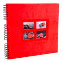 EXACOMPTA Album photos à spirales PASSION. Capacité 360 photos, pages noires. 32 x 32 cm, coloris rouge
