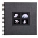 EXACOMPTA Album photos à spirales PASSION. Capacité 360 photos, pages noires. 32 x 32 cm, coloris noir