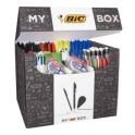 BIC Box contenant 124 instruments d'écriture variés : surligneurs, bille, correction, feutres EAS, marqueurs