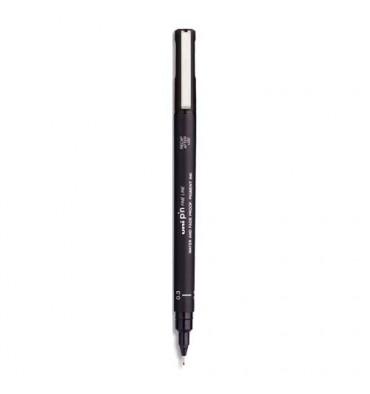 UNIBALL Stylo feutre pointe extra fine de 0,3 mm encre noire