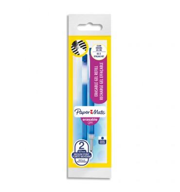 PAPERMATE Recharges pour stylo roller ERASABLE. Encre bleue