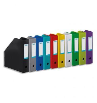 ELBA Porte-revues en PVC soudé, dos de 10 cm 32 x 24 cm, livré à plat. Coloris vert anis